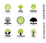 set of trees  2 . | Shutterstock .eps vector #148408340