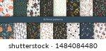 set of vector abstract seamless ... | Shutterstock .eps vector #1484084480