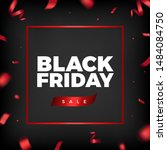 black friday sale vector design.... | Shutterstock .eps vector #1484084750
