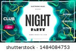 night club party green abstract ... | Shutterstock .eps vector #1484084753