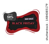 black friday sale banner design | Shutterstock .eps vector #1484085179