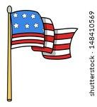 Usa Flag Cartoon   Vector...