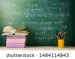 education and reading concept   ... | Shutterstock . vector #1484114843