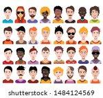 people avatars. vector women ... | Shutterstock .eps vector #1484124569