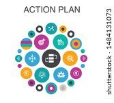 action plan infographic circle...