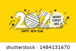 new year emblem 2020 number... | Shutterstock .eps vector #1484131670