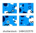 abstract geometric background.... | Shutterstock .eps vector #1484132570