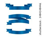 blue ribbons set.vector ribbon... | Shutterstock .eps vector #1484148446