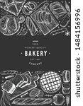 bread and pastry banner. vector ... | Shutterstock .eps vector #1484156996