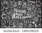 hand drawn vector set of... | Shutterstock .eps vector #1484158220