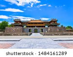Small photo of Hue, Vietnam - 27July 2019: Dai Noi Palace Complex of Hue Monuments. The place that leads to the palaces of kings, is the official in the 19th century in Hue, Vietnam