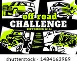 motorsport event poster.... | Shutterstock .eps vector #1484163989