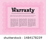 pink vintage warranty... | Shutterstock .eps vector #1484178239