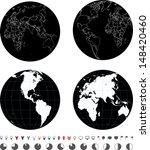 eastern and western hemispheres   Shutterstock .eps vector #148420460