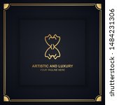 artistic and luxury logo. can... | Shutterstock .eps vector #1484231306