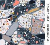 terrazzo polished stone trendy... | Shutterstock .eps vector #1484238419