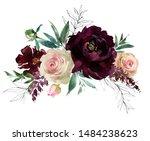 Blush Wine Colors Watercolor...