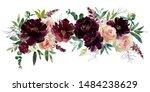 blush wine colors watercolor... | Shutterstock . vector #1484238629