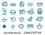 washing cloth with your hand.... | Shutterstock .eps vector #1484250749