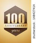 100 years anniversary birthday...   Shutterstock .eps vector #148427414