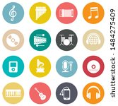 sound music icons set   audio... | Shutterstock .eps vector #1484275409