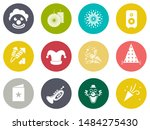 birthday party icons   vector... | Shutterstock .eps vector #1484275430