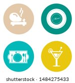 food and beverage icons ... | Shutterstock .eps vector #1484275433