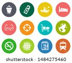 vector travel icons  vacation... | Shutterstock .eps vector #1484275460