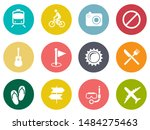 vector travel icons  vacation... | Shutterstock .eps vector #1484275463