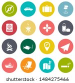 vector travel icons  vacation... | Shutterstock .eps vector #1484275466