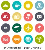 vector travel icons  vacation... | Shutterstock .eps vector #1484275469