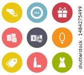 marketing icons set   vector... | Shutterstock .eps vector #1484275499