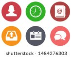 contact us icons  customer... | Shutterstock .eps vector #1484276303
