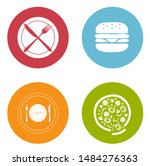 food and beverage icons ... | Shutterstock .eps vector #1484276363