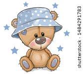 Cute Cartoon Teddy Bear In...