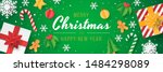 christmas banner with christmas ... | Shutterstock .eps vector #1484298089