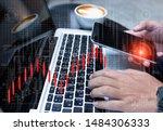 businessman using laptop... | Shutterstock . vector #1484306333