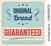 original brand  | Shutterstock .eps vector #148430870