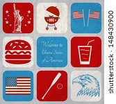 u.s.a. web collection  | Shutterstock .eps vector #148430900