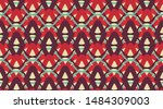 arabic pattern background. ... | Shutterstock .eps vector #1484309003