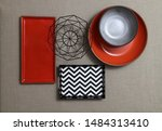 Small photo of dishes and tableware and kitchenware viewed from various angles