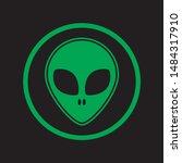 alien attention icon. flat... | Shutterstock .eps vector #1484317910
