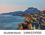 Nuuk by sunset west coast Greenland