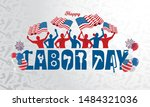 vector illustration happy labor ... | Shutterstock .eps vector #1484321036