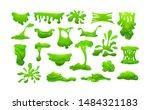 realistic green slime in shape... | Shutterstock .eps vector #1484321183