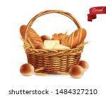 bread realistic composition... | Shutterstock .eps vector #1484327210