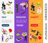 charity donation funding banner ... | Shutterstock .eps vector #1484328233