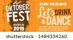 welcome to oktoberfest 2019... | Shutterstock .eps vector #1484334260