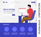 landing page design concept we... | Shutterstock .eps vector #1484336186