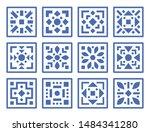 vector pattern set. geometric... | Shutterstock .eps vector #1484341280